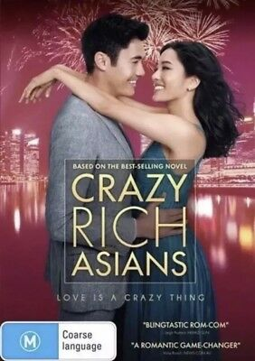 Crazy Rich Asians Dvd (2018) New & Sealed- Free Postage! Region 4