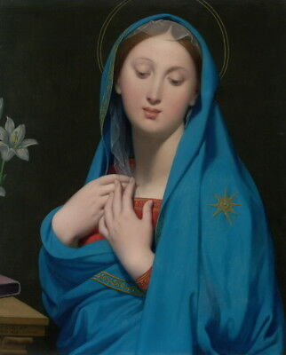 Jean Auguste Dominique Ingres Virgin of the Adoption Giclee Paper Print Poster