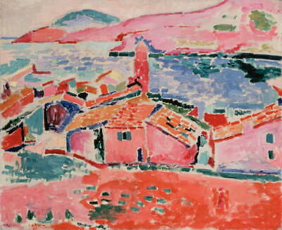 Henri Matisse View Of Collioure Giclee Art Paper Print Poster Reproduction