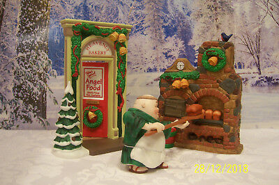 """Dept56 """"MERRY MAKERS"""" 2 Sets:1.OTTO THE OVENMAN and 2. HEAVENLY BAKERY ENTRANCE"""