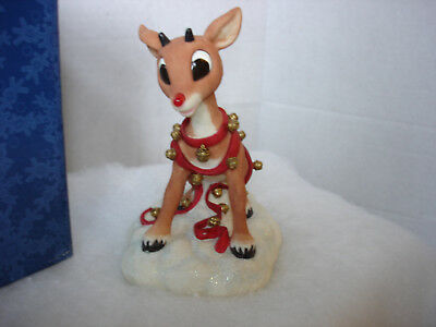 NEW MIB Enesco Rudolph w/ Lighted Nose Island of Misfit Toys 104550 RETIRED