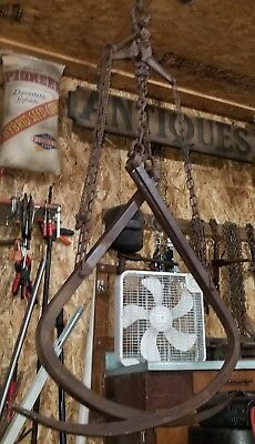 "LOUDEN  HAY (GRAPPLE FORKS ) ""IRON CLAW"" HAY FORKS ,Fairfield,Iowa- WORKS NICE!"