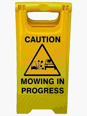 A-Frame Signs -  CAUTION MOWING IN PROGRESS