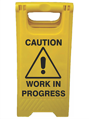 A-Frame Signs -  CAUTION WORK IN PROGRESS