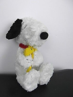 "Snoopy Holding Woodstock Hallmark Plush Stuffie Stuffed Animal 12"" Peanuts Dog"
