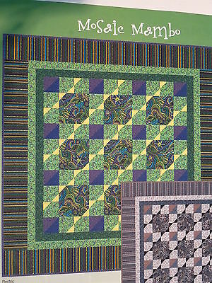 MOSAIC MAMBO 60 X 60 Quilt Kit -- Electric Green