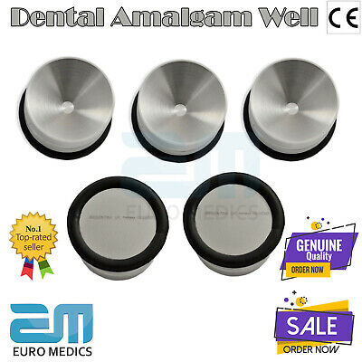 Dental Amalgam Well Instrument Restorative Amalgam Carrier Pot Mixing Tool 5 Pcs