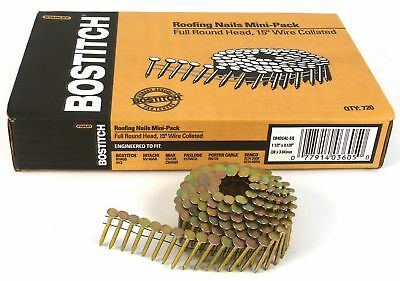 """NEW BOSTITCH CR3DGAL  7200 15° 1 1//4/"""" PNEUMATIC GALVANIZED ROOFING NAILS 6820500"""