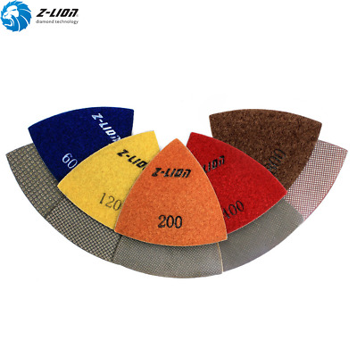 5Pcs Electroplated Triangular Polishing Sanding Pads 80mm Renovator Accessory