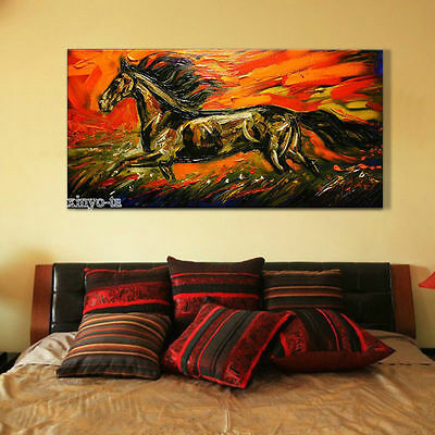 ZWPT333 huge 100% hand-painted modern abstract horse art oil painting on canvas