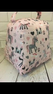 CLEARANCE Pink Girls Unicorn Bedroom Doorstop