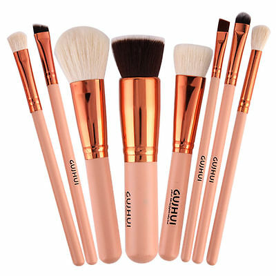 Pro 8pcs Makeup Brush Set Powder Foundation Eyeshadow Eyeliner Lip Brush Tool ~