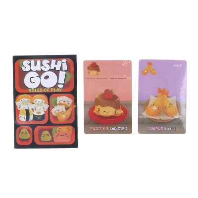 Full English version sushi cards game version for party family kids board EP