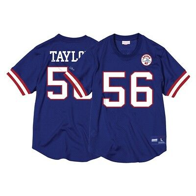 6496c851 Lawrence Taylor New York Giants Mitchell & Ness Men's Mesh Crew Neck Jersey