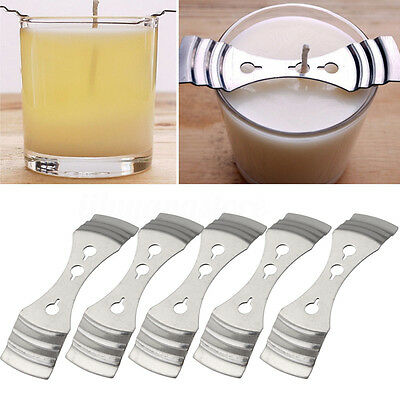 5Pcs Device Holder Candle Making Supplies 10*2.5cm Metal Candle Wick Centering