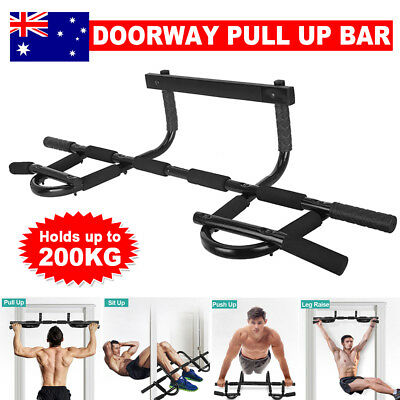 Portable Chinup Gym Door Station Pullup Chin Up Exercise Bar Doorway