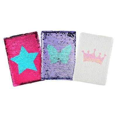 A5 Reversible Sequin Notebook Glittery Notepad Journal Diary Book Vogue
