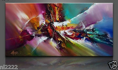 YA003 Large Hand-painted Oil Painting Modern Home decor No Frame 24x48in