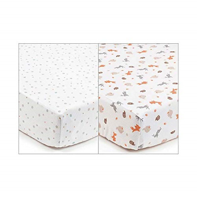 BreathableBaby Cot Bed & Toddler Bed Super-Dry 2 Pack of Breathable Sheets x -