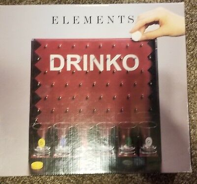 Elements Drinko 6 Shot Glass Bar Drinking Game With Inside Contents Sealed NIB