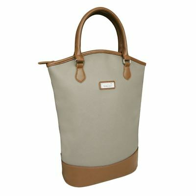 Sachi - Two Bottle Wine Insulated Tote Taupe