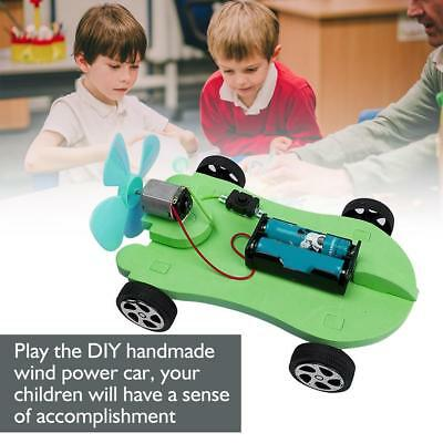 Educational DIY Wind Power Car Model Children Handmade Assembling Science Toy