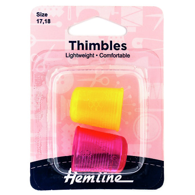 Hemline - Yellow and Pink Thimble Pack Assorted Sizes