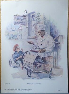 """Vintage 1976 Cream of Wheat Poster Right Over The Home Plate 14"""" x 10"""""""