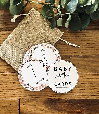 Baby Milestone Cards. Baby Shower Gift. Baby Photo Props.