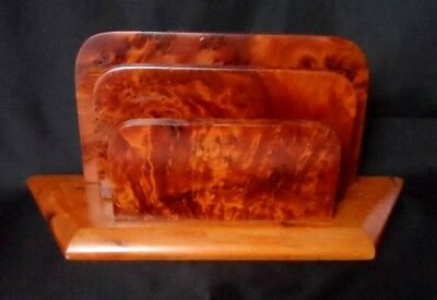 Moroccan Thuya wood burled grain LETTER RACK HOLDER hand crafted