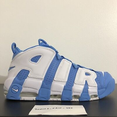 ac1cac1effce Nike Air More Uptempo  96 UNC University Blue White Mens Size 13 (921948-