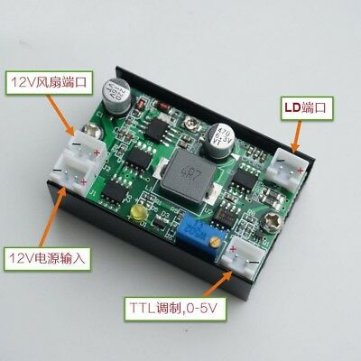 5A 12V Constant Current Power / Laser LD / LED Driver w/ TTL 445nm 450nm 520nm