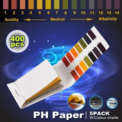 Full Range pH Test Paper, pH 1-14, Fast, Accurate Results, For Lab Food Saliva
