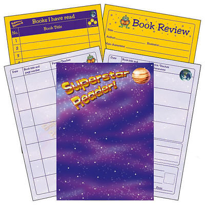 Superstar Reader Reading Record Book Primary Teaching Comprehension Childrens A5