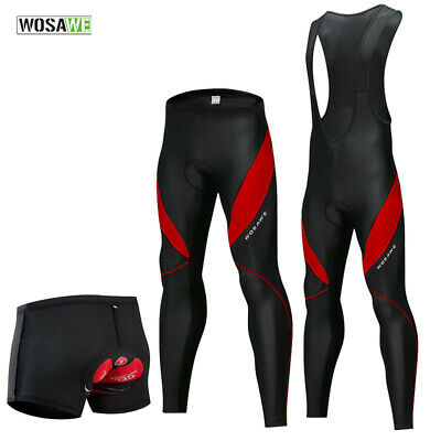 Men's Cycling Bike Pants BIB long Tights Thermal fleece Trousers Casual Shorts