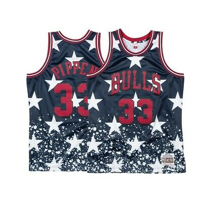 huge discount 6aa61 16de9 SCOTTIE PIPPEN MITCHELL & Ness Chicago Bulls 4th of July Swingman Jersey  Men's