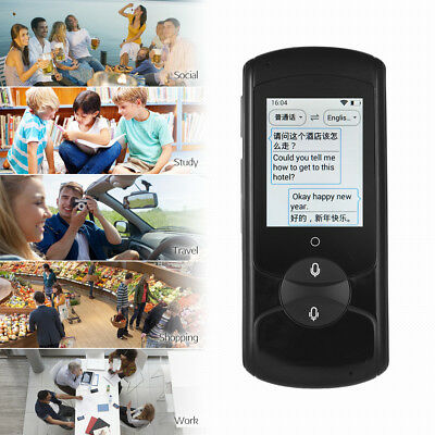 "Voice Translator Device 2.0"" HD Touch-screen Support Offline Translation X0P0"