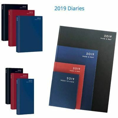 2019 A4 / A5 Diary Day To a Page or Week to View Desk Diary or Calendar Tab