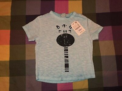 72f26a5211 ZARA BABY BOY BNWT Blue Zebra Print T-Shirt 2-3 Years - £5.00 ...