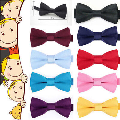 Kids Bow Tie Bowtie Baby Wedding Tuxedo Formal Party Pretied Necktie Boy 10*5cm