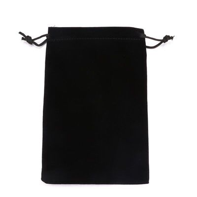 Small Black Gift Bag Velvet Cloth Jewelry Pouch Drawstring Wedding Favors 5PCS