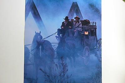 New Rare Wells Fargo Poster Wild West Stagecoach Bank Visibly Armed Courier Gun