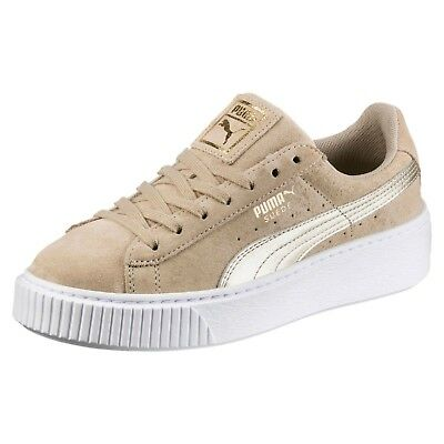 ad3af73a4f60 PUMA SUEDE PLATFORM SAFARI BEIGE Baskets Natural Sneakers Creepers 364594-01
