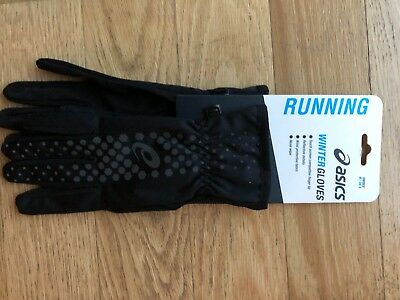 2972565f63d91 GUANTI RUNNING UNISEX ASICS WINTER PERFORMANCE GLOVES BLACK touch  compatibile