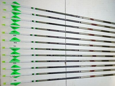 12 Easton Full Metal Jacket Camo Hunter FMJ 5mm 340 Arrows! Custom Blazer Vanes