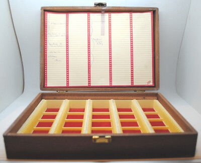 VINTAGE BOOTS PHOTOGRAPHIC PHOTOS SLIDE WOODEN STORAGE CASE BOX 35mm. HOLDS 175.