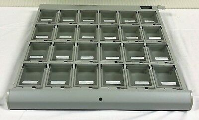 Omnicell Pharmacy II Sensing Round Lid Drawer with 24 Bins Medium Security