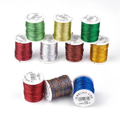 10rolls Metallic Twisted Cord Mixed Color 1mm Braid Jewellery Soutache Crafts