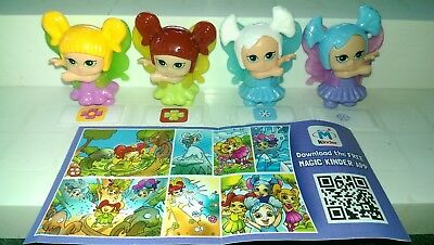Kinder 2015, Glitzer Feen, Baby Faries, Israel, compl. set with all Bpz.
