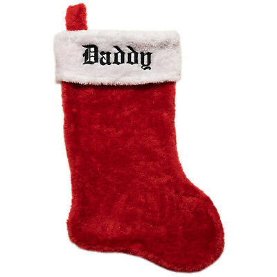 Personalized Plush Christmas Stockings Classic Red White Monogrammed Your Name
